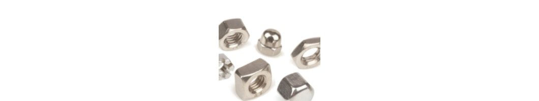 Stainless steel nuts with external...