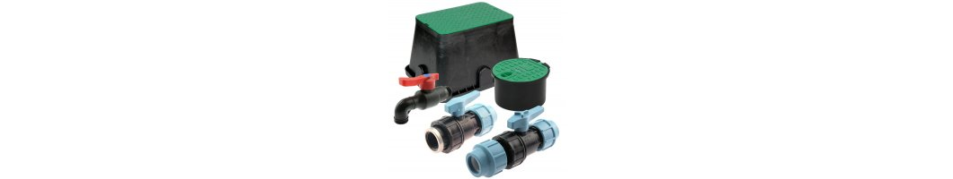 PP ball valves and valve boxes