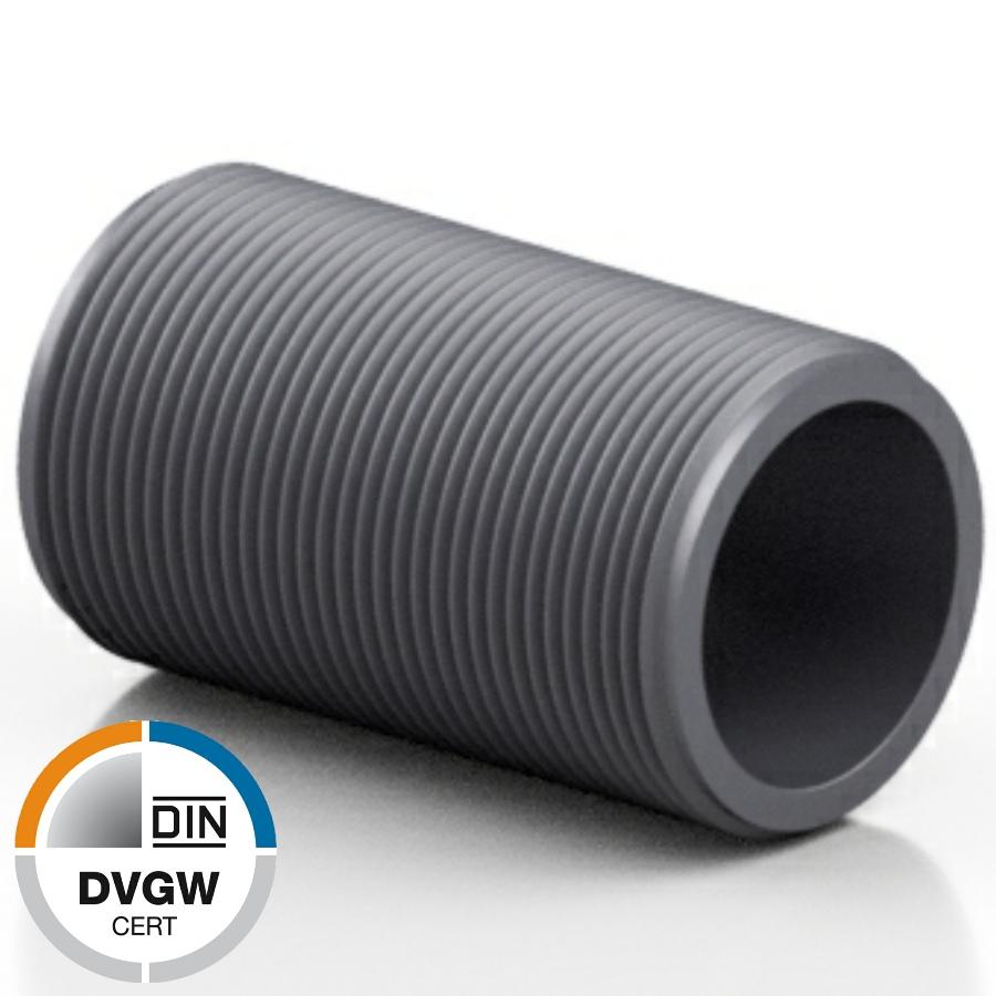 U-PVC male threaded bar - DVGW