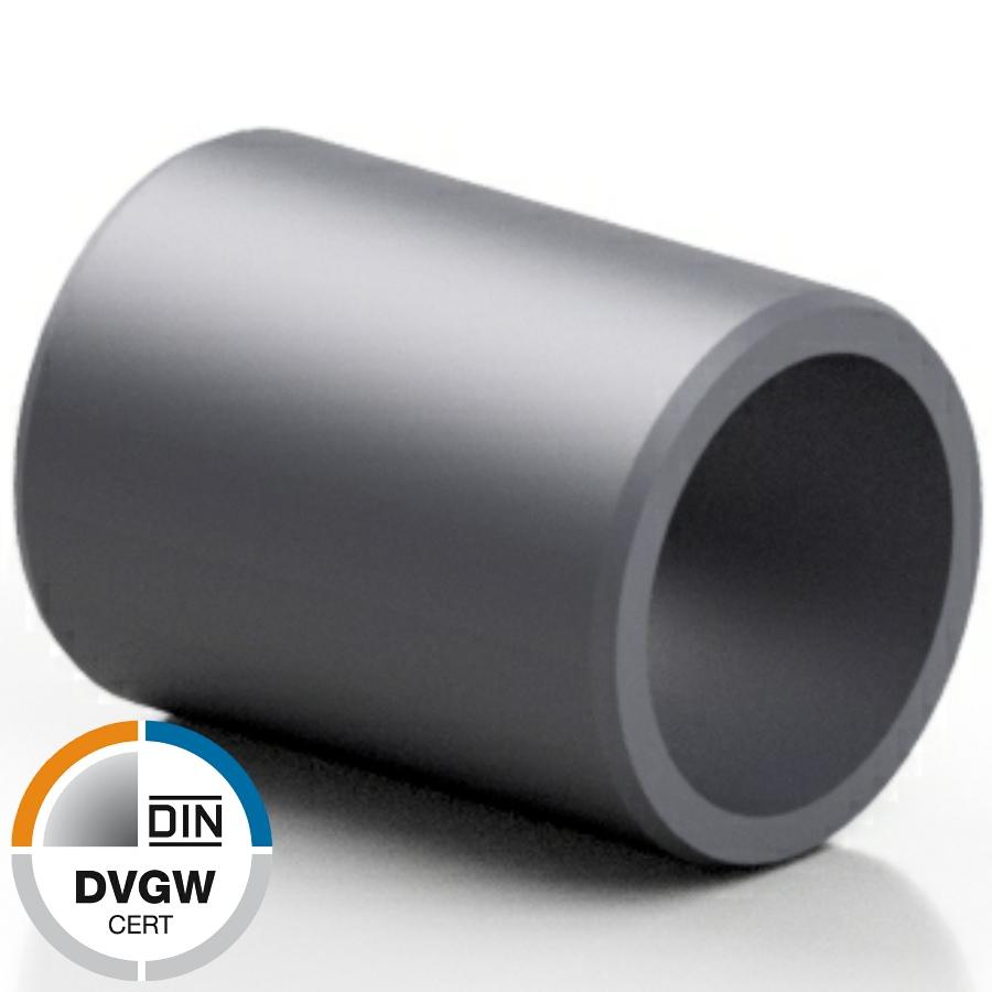 U-PVC male solvent socket - DVGW