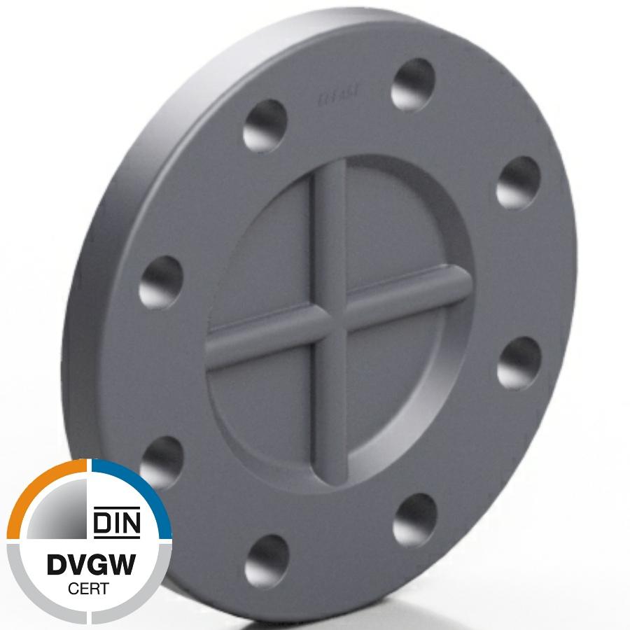 PVC-U Blindflansch DVGW