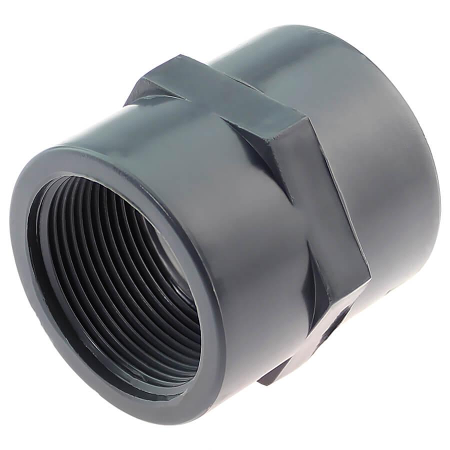 U-PVC solvent socket with female thread