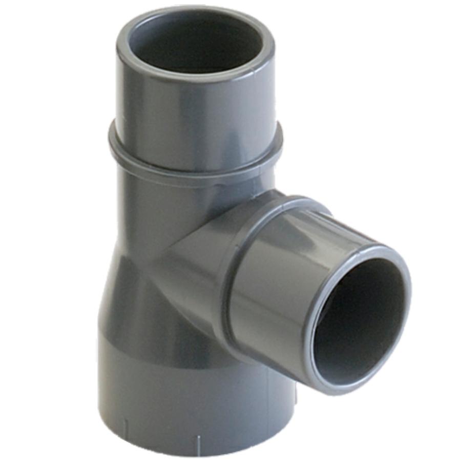 PVC-U T-Stück 90° Klebemuffe x 2fach Klebestutzen/-muffe