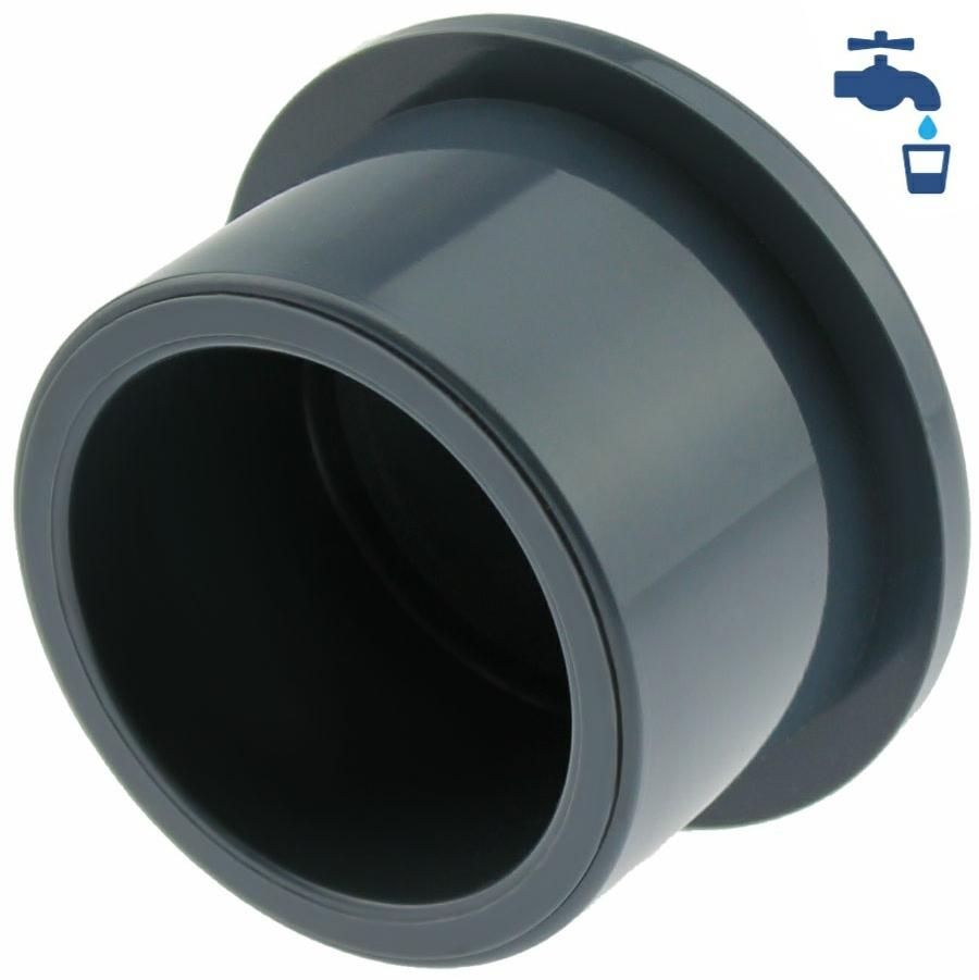 U-PVC solvent end cap for solvent socket
