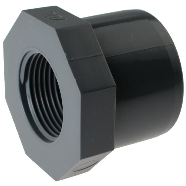 PVC-U Reduzierring Achtkant, Klebestutzen x Innengewinde