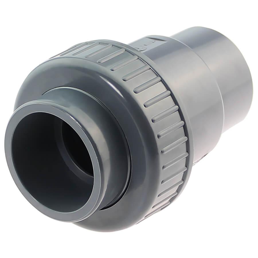 U-PVC solvent check valve with 1 nut