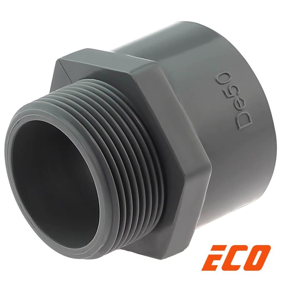 PVC-U Übergangsnippel ECO, Klebemuffe x Aussengewinde