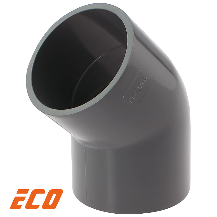 PVC-U Winkel 45° ECO 2fach Klebemuffe