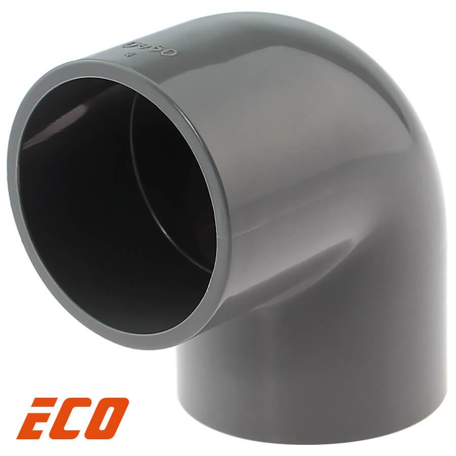 PVC-U Winkel 90° ECO 2fach Klebemuffe