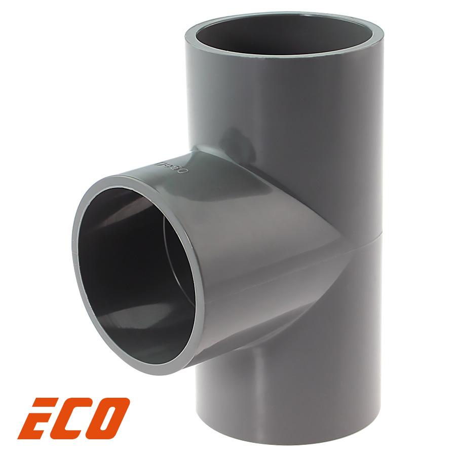 PVC-U T-Stück 90° ECO 3fach Klebemuffe