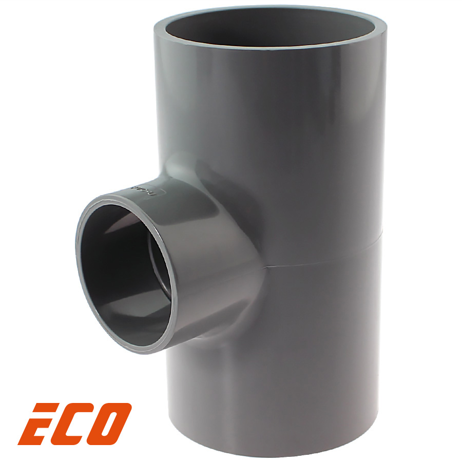 U-PVC solvent reducing tee 90° ECO