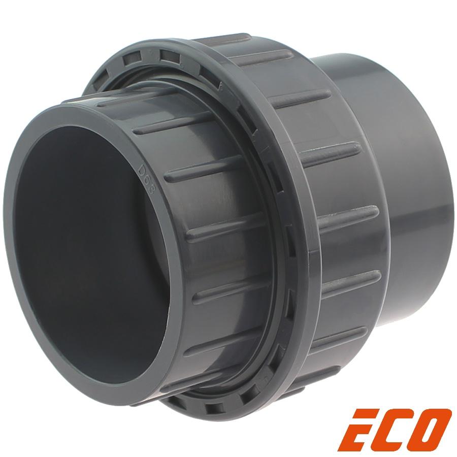 PVC-U Verschraubung ECO, 2fach Klebemuffe