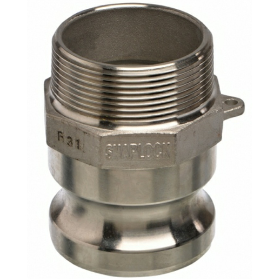 A4 ss CAMLOCK type F male adapter x male thread