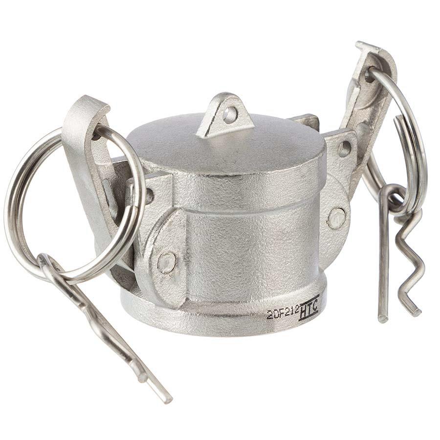 Edelstahl V4A Typ DC Mutterteil mit Endkappe