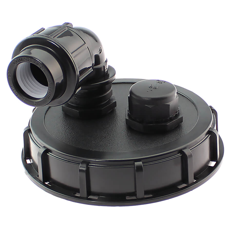 Upper cap with ventilation for IBC container