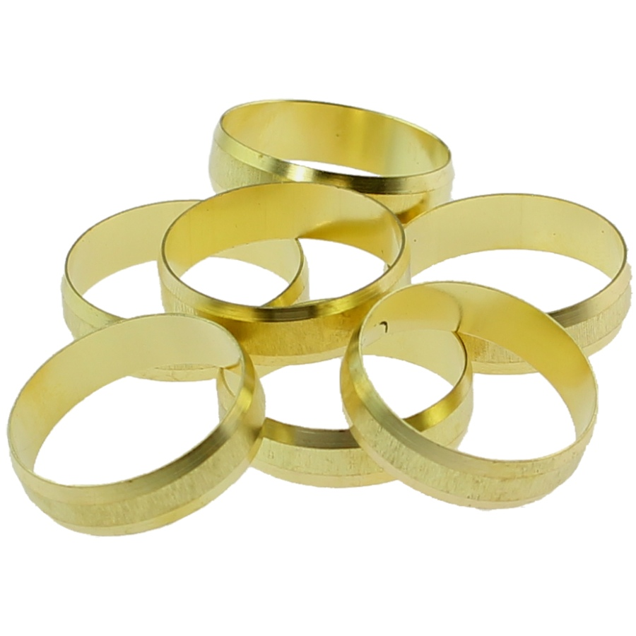 Spare part ring for brass compression fittings