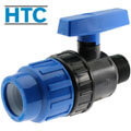 PP ball valve compression fitting x male thread