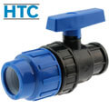 PP ball valve compression fitting x female thread