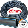 PE Rohr Druckrohr 25 x 2,3mm DVGW 16 bar, Rollen- und Stangenware
