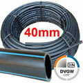 PE Rohr Druckrohr 40 x 3,7mm DVGW 16 bar Rolle