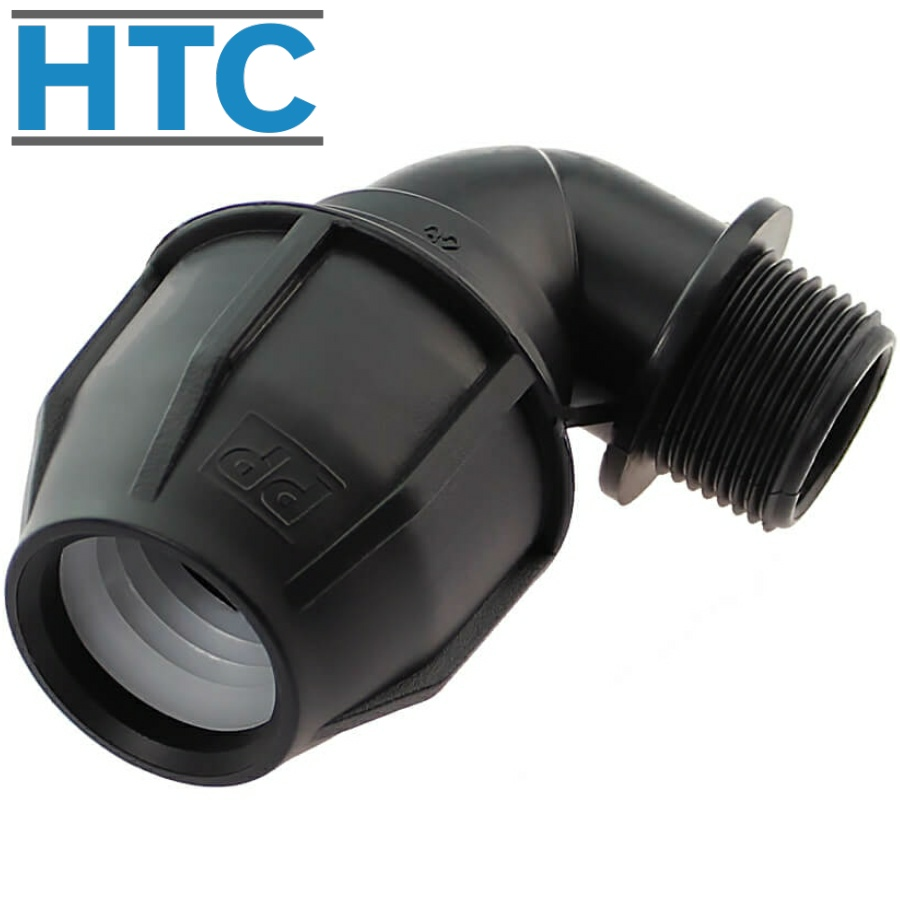 Adapter compression fitting elbow 90° x male thread