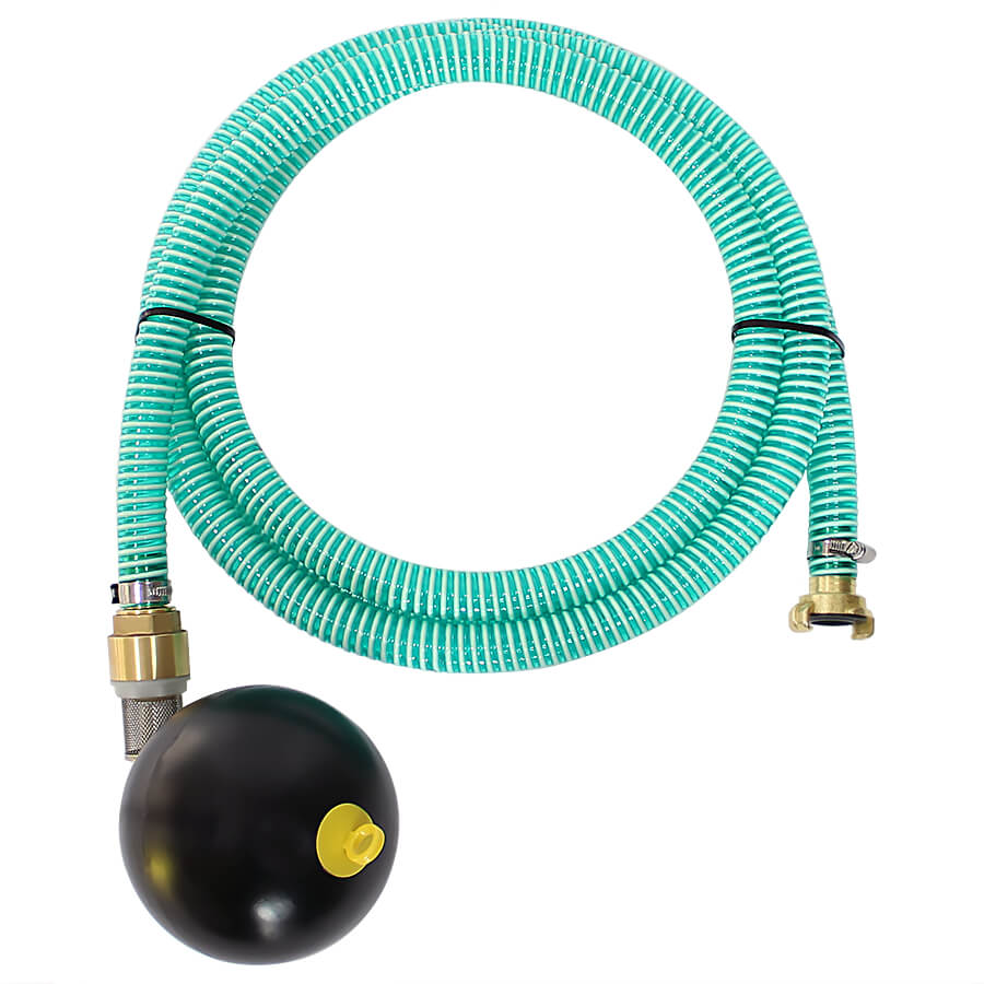 Suction hose set with GEKA coupling and floating ball