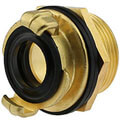 Brass tank threaded quick bayonet coupling (sim. to GEKA)