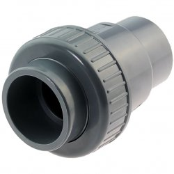 U-PVC solvent check valve with 1 nut