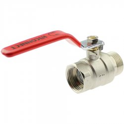 Brass female/male threaded ball valve with steel handle