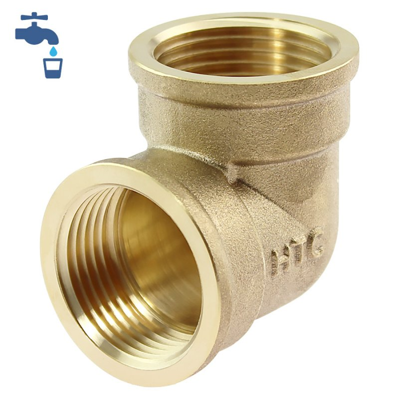 Brass female threaded elbow 90°