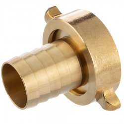 Brass hose tail with female thread and nut