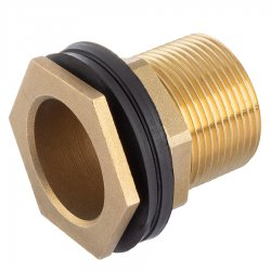 Brass male threaded tank connector