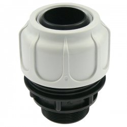 Compression fitting BD FAST with male thread for suction/delivery hoses