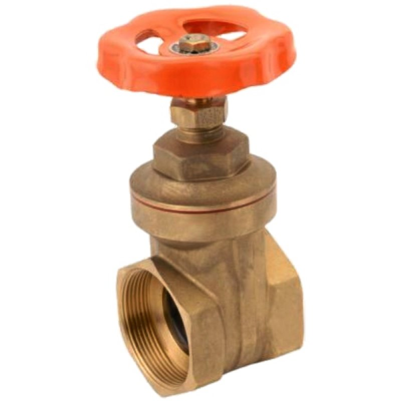 Brass female threaded gate valve