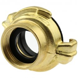 Brass quick bayonet coupling with female thread