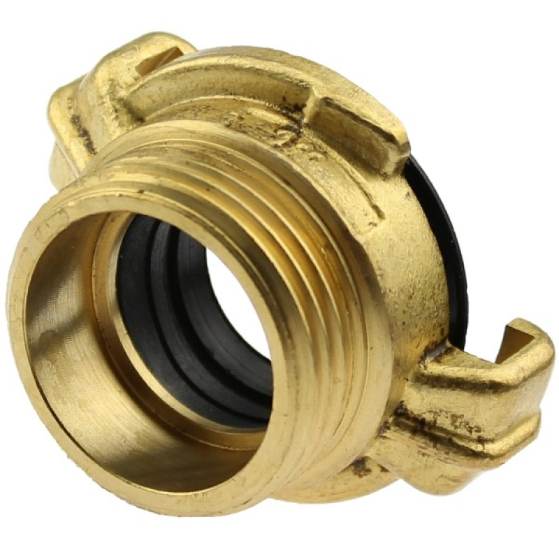 Brass quick bayonet coupling with male thread