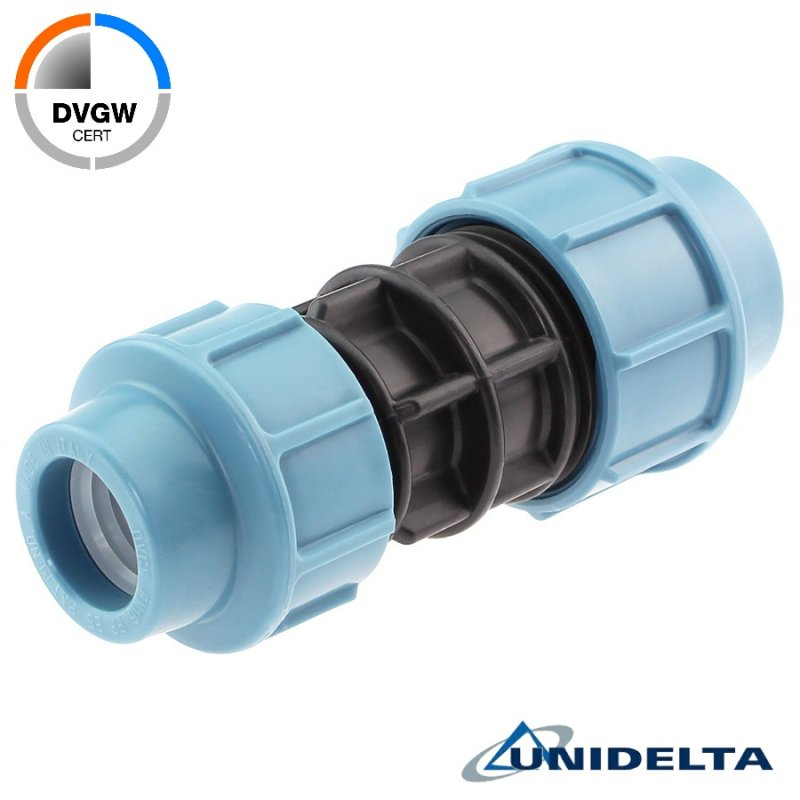Reducing compression fitting, DVGW