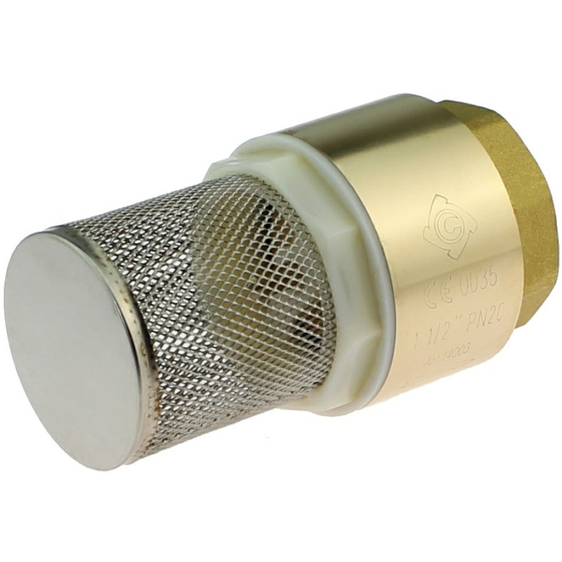 Brass female threaded foot valve with steel basket