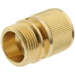 Brass Quick-Click coupling with male thread