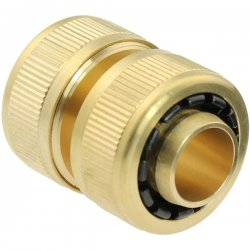 Brass Quick-Click coupling with hose joint