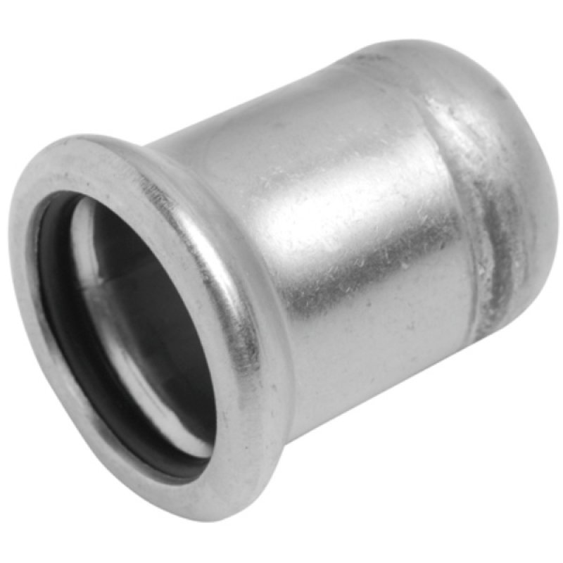 A4 ss press fitting end cap, M-profile