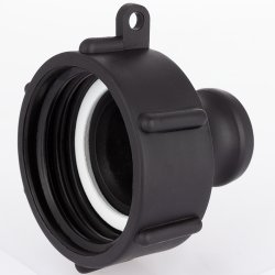 IBC container coupling with CAMLOCK joint