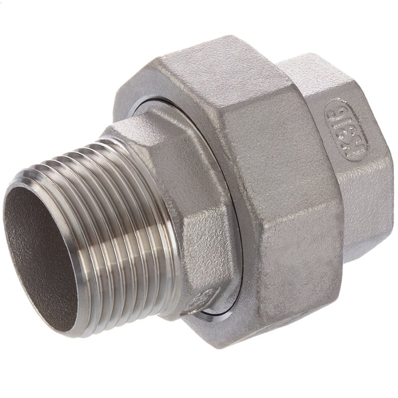 A4 ss female/male threaded cylindrical union