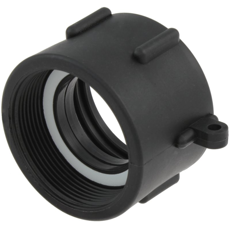 IBC container coupling with female thread