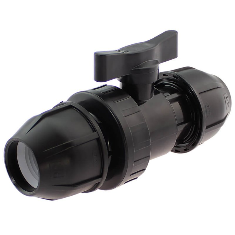 PP ball valve compression fitting