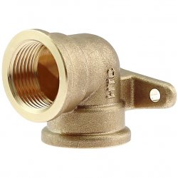 Brass elbow 90° with flange and female thread