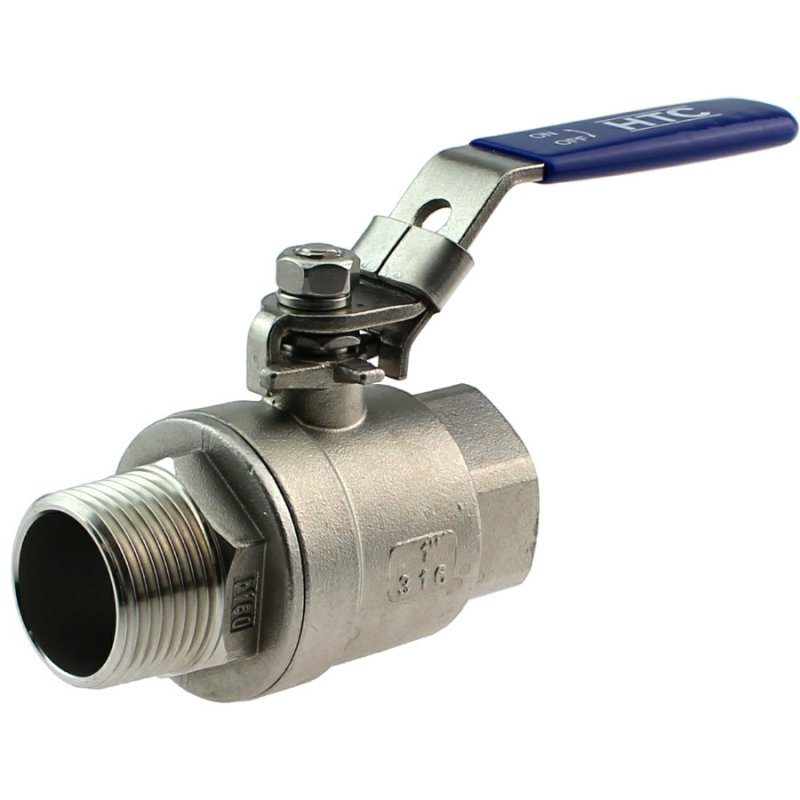 A4 ss female/male threaded two-piece ball valve