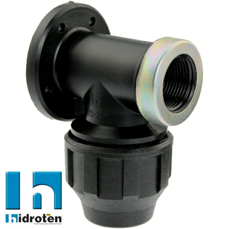 Compression fitting with flange x  A2 ss reinforced female thread